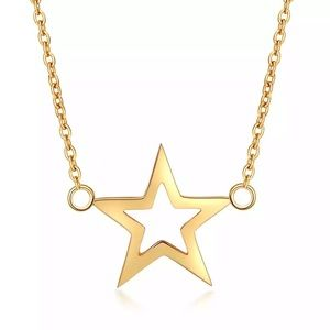 Stainless Steel star pattern necklace